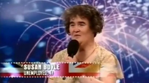 Susan Boyle's performing in UK's You Got Talent.