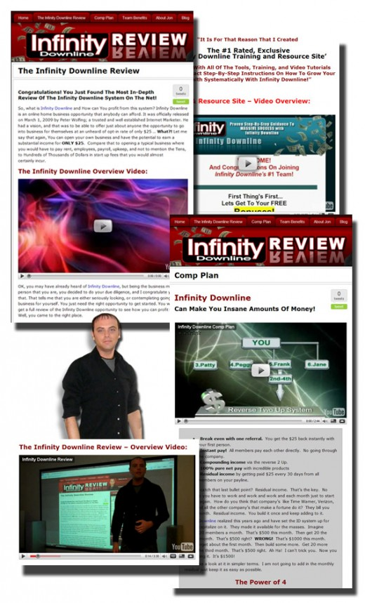 Infinity Downline Review Site