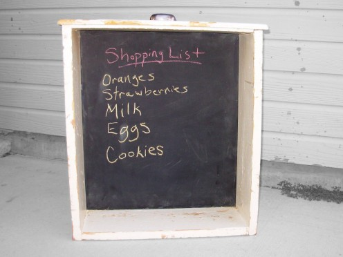 Old Kitchen Drawer Chalkboard