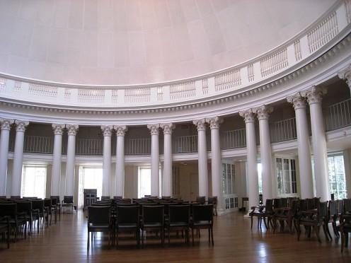 Dome, Rotunda (University of Virginia), Charlottesville, Virginia, [Photos this page, public domain]