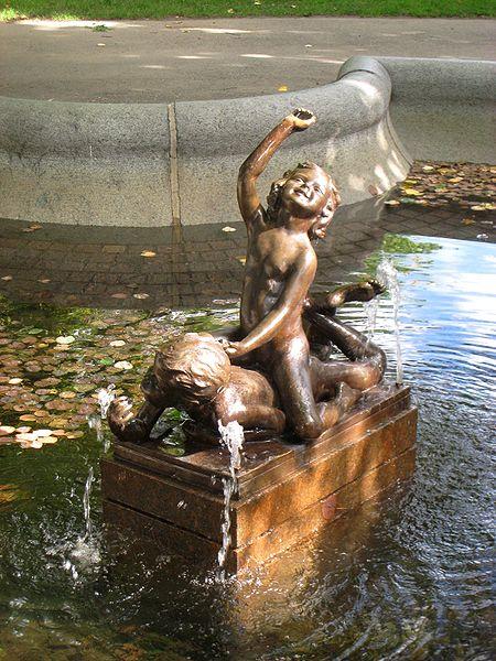 Fountains in Boston - fine arts.
