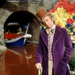 Willy Wonka and the Chocolate Factory: A movie filled with a list of elaborate candies, visuals and a unique costumes