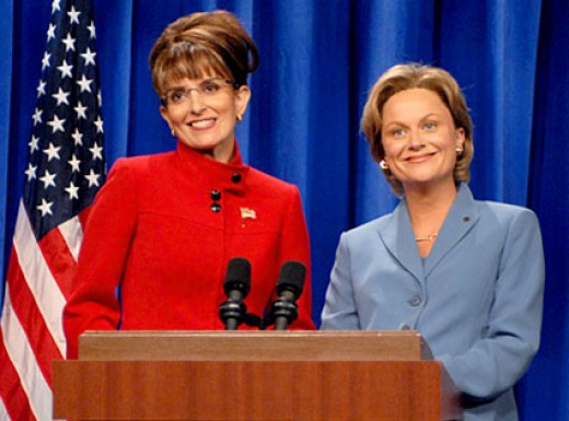 Tina fey and Amy Poehler on Saturday Night Live