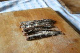 salted anchovies and ...