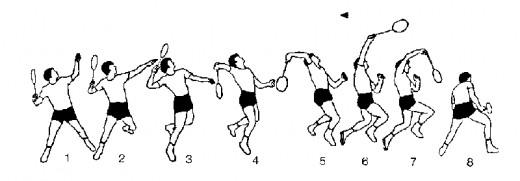 Hitting the Smash: proper stroke (photo from Badminton 4 US)