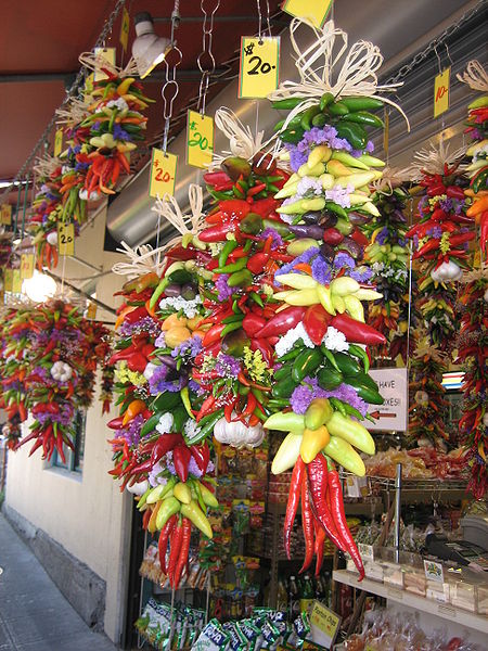 Peppers at Seattle's Pike Place (Photos this page, pubic domain)