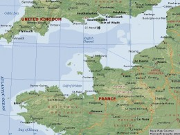 Map of the English Channel
