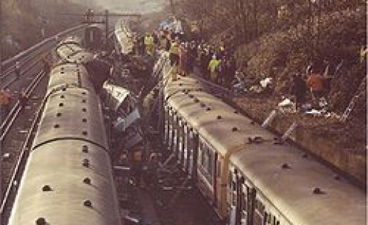 Clapham Junction Rail Crash Scene