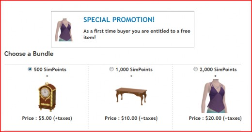 The promo for new buyers. Existing customers were shown the same screen with the text 'You are not eligible for this promotion.'