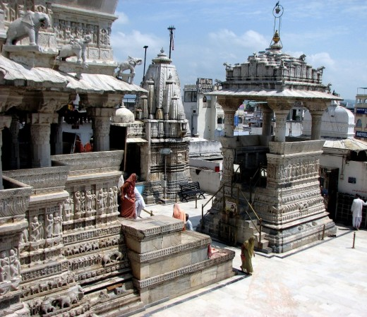 Jagdishji Temple @ Udaipur.Built by Rana Jagat Singha in 1652. Frontside damaged by Aurangzeb's army. Restored by Rana Sangram Singha(2nd) in 1780.