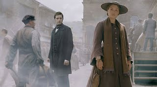 "Scene from ""North and South""  John Thornton behind Margaret Hale"