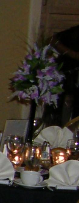 Handmade silk wedding centerpieces