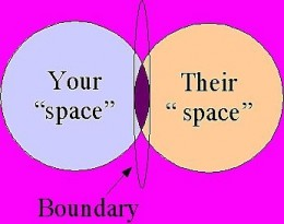 Setting boundaries means that you provide physical and emotional space for yourself.