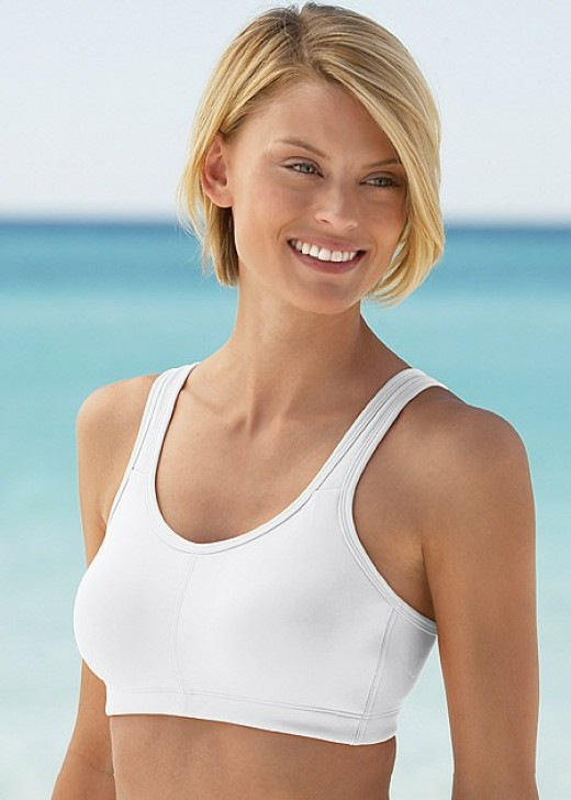 racerback sports bra by Hanes