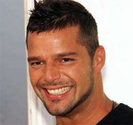Ricky Martin faux-hawk hair