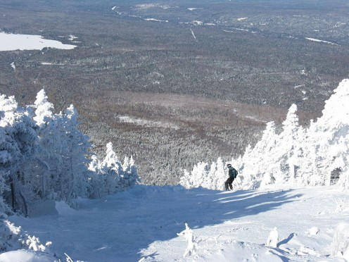 Skiing in Maine is a popular winter sport.