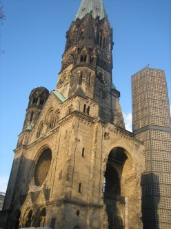 A reminder of the War. Berlin's Kaiser Wilhelm Gedaechtniskirche