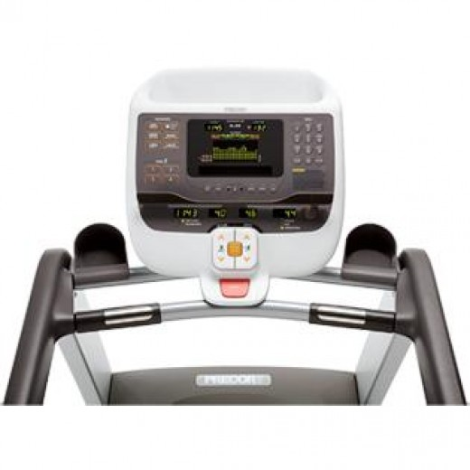 The Precor 9.35X has four user I.D.'s that track and store your workouts. www.chicagohomefitness.com