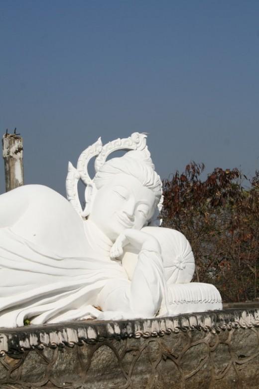 Beautiful marble sculptures at Monkey Hill (Hua Hin, Thailand)