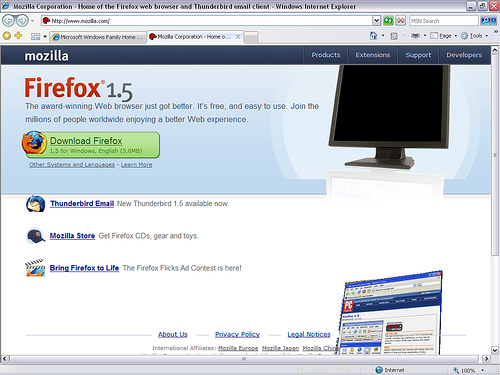 """Firefox 1.5"" Photo Courtesy: Beta (set)"