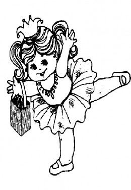 Early Childhood Education Online - Halloween Zombie Kids Colouring Pictures to Print -  Ballerina