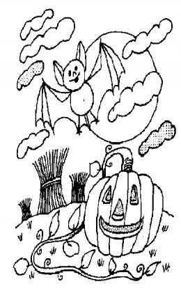Halloween Zombie Kids Coloring Pages Free Colouring Pictures to Print-and-Colour -  Bats and Pumpkins