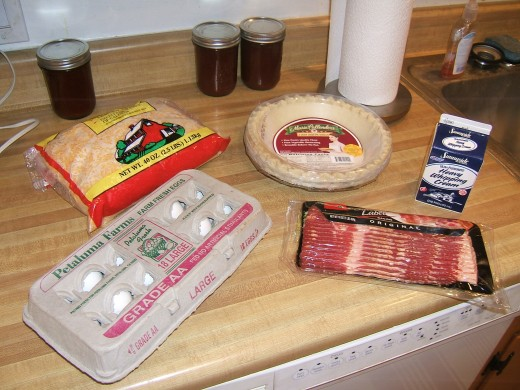 Ingredients for your quiche - $10.00