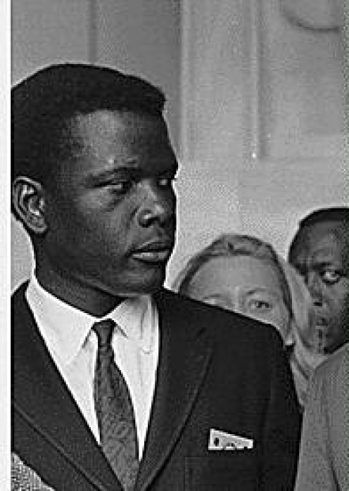 Sidney Poitier's at the Civil Rights March on Washington, D.C., 08/28/1963.