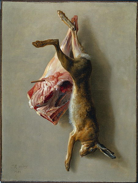 A Hare and a Leg of Lamb by Jean-Baptiste Oudry. A display of usual Easter fare in the rural areas of Europe.