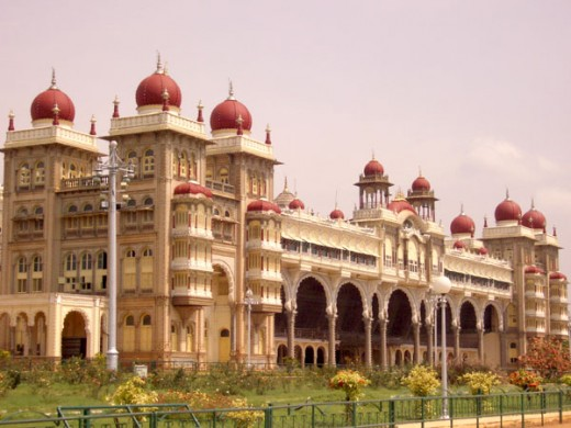 Closer view of Mysore palace