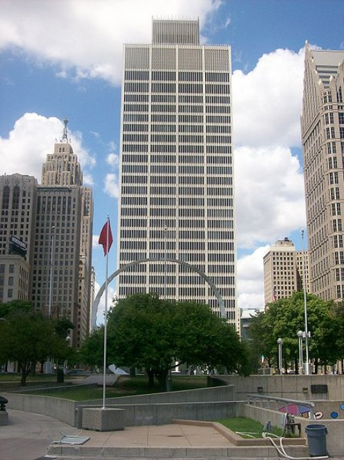#1 Woodward Avenue, a landmark building in Downtown Detroit.