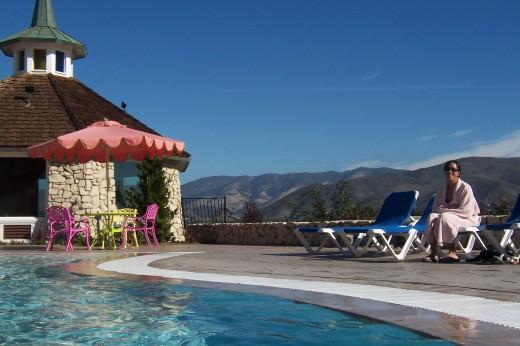 Poolside at Madonna Inn