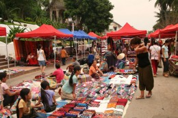 Night market Luang Prabang, Laos
