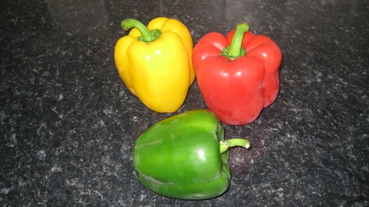 Peppers are colourful and healthy and will add flavour to your home made vegetable soup.