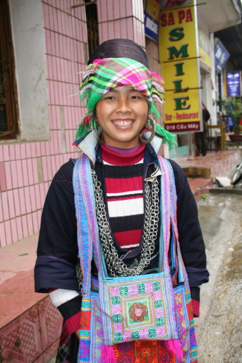 Colorfully dressed village girls are a delight.