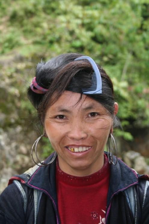 A village lady.
