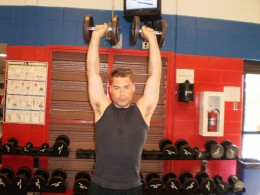 The Overhead Press ending position