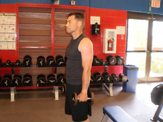 The Lateral Raise start position