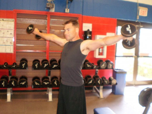 The Lateral Raise up position