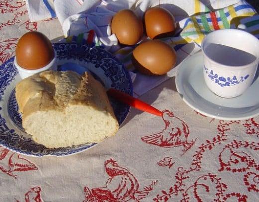 Fresh, organic, free-range eggs