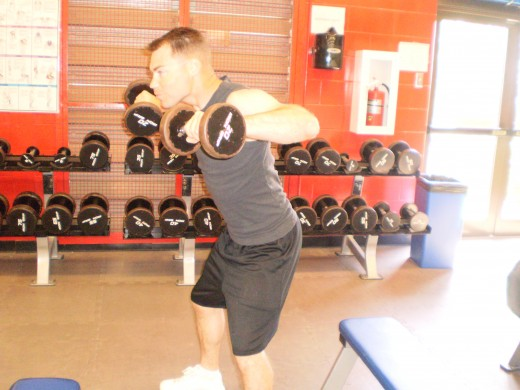 The Reverse Lateral raise up position
