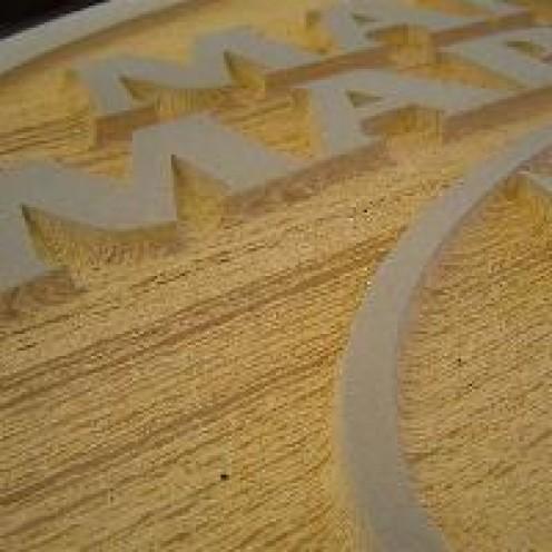 uses of sandblasting - signage
