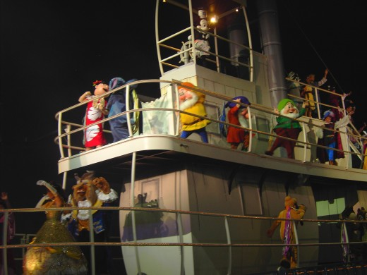 Various Disney Characters ride