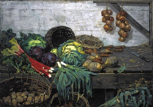 The Vegetable Stall, 1884l Wm Y. MacGregor