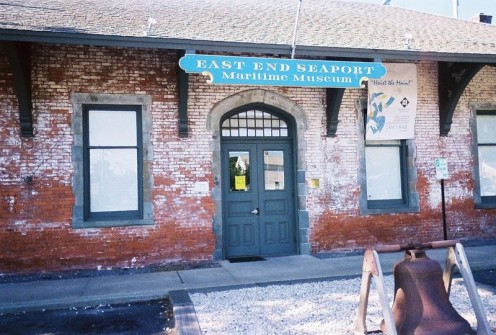 Old Greenport Station, which is now the East End Seaport Maritime Museum (photos public domain)