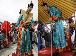 The Guinness Book of World Record confirmed Bao as the world's tallest living man last year.  He surpassed the previous holder- Radhouane Charbib of Tunisia by just 2 mm
