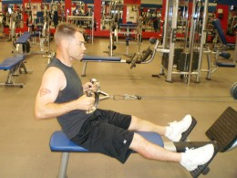 The Seated cable row end position