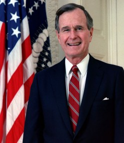 President George Herbert Walker Bush (Photos this page, public domain)
