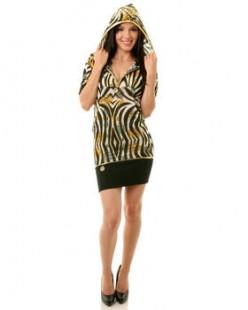 ANIMAL PRINT HOODED DRESS   $54.99