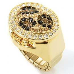 Waltham Women's Crystal Animal Print Motif Watch Flex Ring - J177064 $25.25